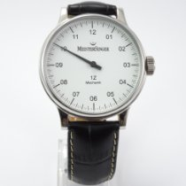 Meistersinger N° 01 pre-owned 43mm White Leather