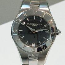 Baume & Mercier Linea Acero 27mm Negro Sin cifras