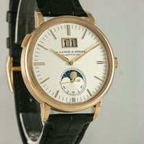 A. Lange & Söhne Red gold Automatic Silver 39mm pre-owned Saxonia