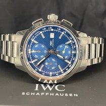 IWC Ingenieur Chronograph Сталь 42mm Синий Без цифр