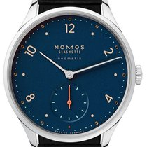 NOMOS Minimatik Steel 35.5mm Blue Arabic numerals