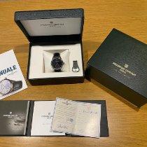 Frederique Constant Manufacture Slimline Moonphase occasion 42mm Bleu Phase lunaire Date Cuir de crocodile