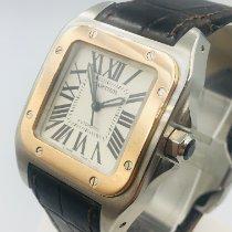 Cartier Santos 100 Stahl 33mm Silber Römisch