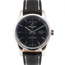 Breitling Transocean Day & Date Steel 43mm Black No numerals