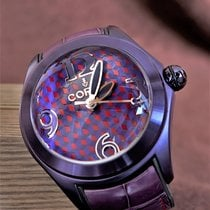 Corum Bubble Ocel 42mm Fialová Arabské