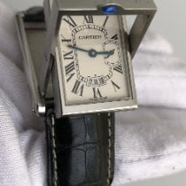 Cartier Tank (submodel) pre-owned 26.5mm White Date Leather