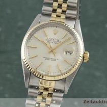 Rolex Datejust Zlato/Ocel 36mm Stříbrná