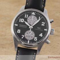 IWC Pilot Spitfire Chronograph Stål 43mm Sort