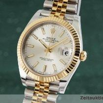 Rolex Datejust Or/Acier 40mm Argent