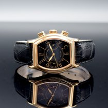 Girard Perregaux Red gold Automatic Black Roman numerals 46mm pre-owned Richeville