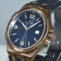 Maurice Lacroix Bronze Quarz Blau Arabisch 44mm neu AIKON