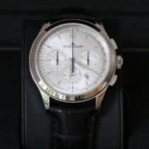 Jaeger-LeCoultre Master Chronograph usados 40mm Plata Cronógrafo Fecha Piel de aligátor