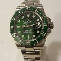 Rolex Submariner Date Acier 40mm Vert Sans chiffres Belgique, koksijde