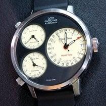 Glycine Airman Steel 53mm Black Arabic numerals