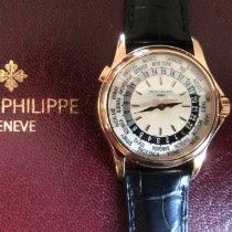 Patek Philippe World Time Rose gold 37mm Silver United States of America, Massachusetts, Boston