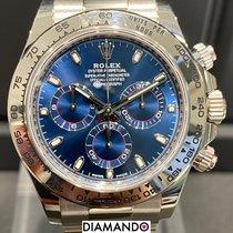 Rolex White gold Automatic Blue Arabic numerals 40mm pre-owned Daytona