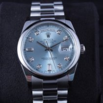 Rolex Day-Date 36 118206 Good Platinum 36mm Automatic Singapore, Singapore