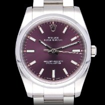 Rolex Oyster Perpetual 34 Steel 34mm Silver Arabic numerals