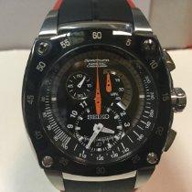 Seiko Sportura Steel 45mm Black No numerals