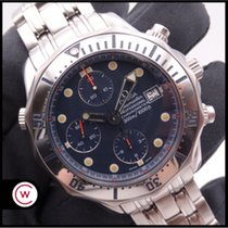 Omega Seamaster Diver 300 M Staal 41,5mm Blauw Geen cijfers