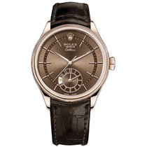 Rolex Cellini Dual Time Rose gold 39mm Brown No numerals United States of America, New York, NEW YORK