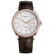 Rolex Cellini Date Rose gold 39mm Silver No numerals United States of America, New York, NEW YORK