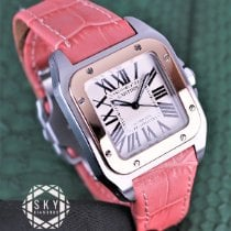 Cartier Santos 100 Gold/Steel 33mm White Roman numerals United States of America, New York, New York
