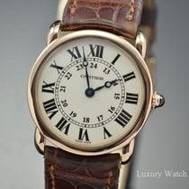 Cartier Ronde Louis Cartier Roségold 29mm Silber Römisch