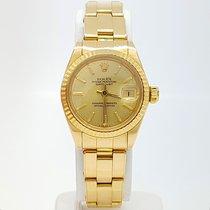 Rolex Lady-Datejust Or jaune 26mm Champagne Sans chiffres