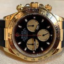 Rolex Daytona Zuto zlato 40mm Crn Arapski brojevi