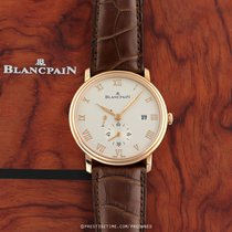 Blancpain Villeret Small Seconds Date & Power Reserve Mechanical Or rose 2014 Villeret 40mm nouveau