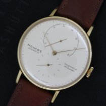 NOMOS Lambda Yellow gold 39mm White