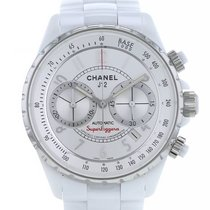 Chanel J12 occasion 41mm Blanc Chronographe Date Céramique