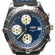 Breitling Chronomat GMT Сталь 39mm Синий Без цифр