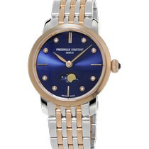 Frederique Constant Slimline Moonphase FC-206ND1S2B new