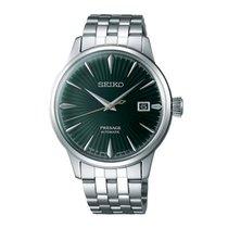 Seiko Presage Steel 40.5mm Green No numerals