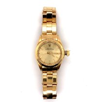 Rolex Oyster Perpetual 26 Yellow gold 24mm Gold No numerals