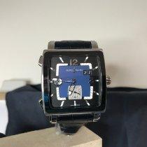 雅典 Quadrato Dual Time 243-92CER/632 非常好 鋼 自動發條