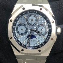 Audemars Piguet Royal Oak Perpetual Calendar Platinum 41mm Blue No numerals United States of America, New York, Manhattan