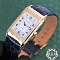 Jaeger-LeCoultre Yellow gold Manual winding Silver Arabic numerals 23mm pre-owned Reverso Classique