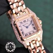 Cartier gebraucht Quarz 22mm Champagnerfarben Saphirglas