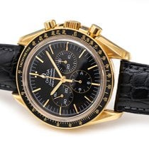Omega Speedmaster Professional Moonwatch occasion 42mm Noir Chronographe Cuir de crocodile
