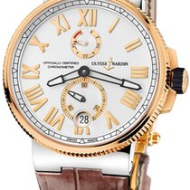 Ulysse Nardin Marine Chronometer Manufacture Gold/Steel 45mm Silver