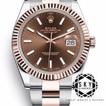 Rolex Datejust II Gold/Stahl 41mm Braun Keine Ziffern