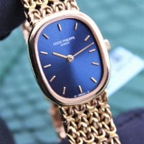Patek Philippe Golden Ellipse Geelgoud 24mm Blauw