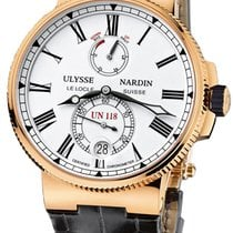 Ulysse Nardin Marine Chronometer Manufacture Rose gold 45mm White