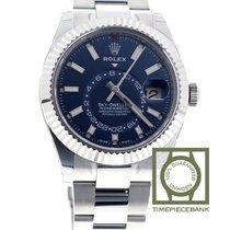 Rolex Sky-Dweller occasion 42mm Bleu Date Affichage des mois Calendrier annuel Acier