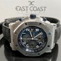 Audemars Piguet Steel Automatic Blue 42mm pre-owned Royal Oak Offshore Chronograph