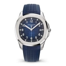 Patek Philippe Aquanaut pre-owned 42.2mm Blue Rubber