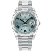 Rolex Platinum Automatic Blue Roman numerals 40mm new Day-Date 40